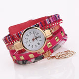 Multi-layered Vintage Watches Rose Red