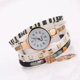 Multi-layered Vintage Watches White