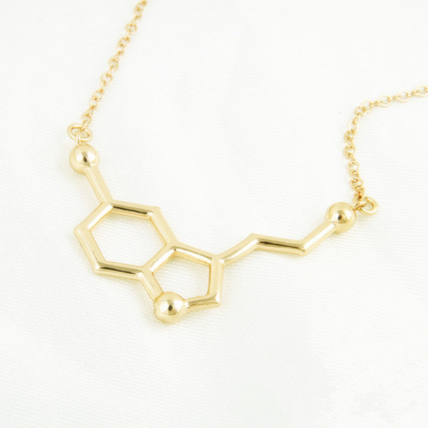 Dopamine Serotonin Molecule Necklace