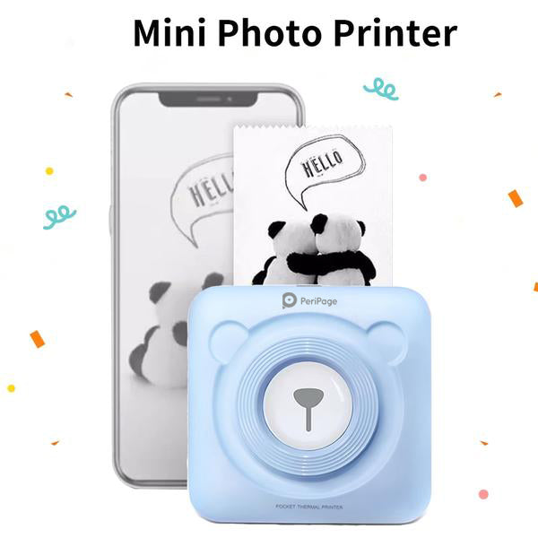 Cute PeriPage Mini Portable Bluetooth Photo Printer