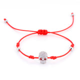 Skull Blessed Lucky Red String Bracelet