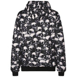 Black and White Skull Head 3D Hoodies