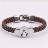 Titanium Braided Leather Bracelets