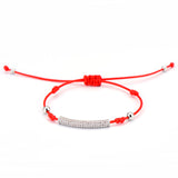 Tubular Blessed Lucky Red String Bracelet