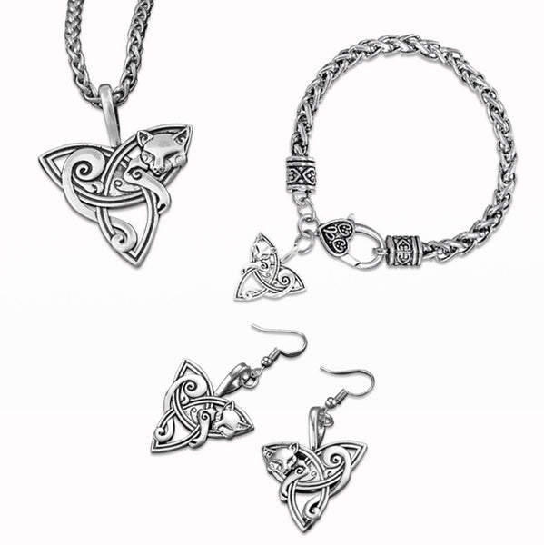 Celtic Knots Cat Jewelry Set