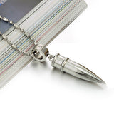 Silver Men's Stainless Steel Bullet Pendant