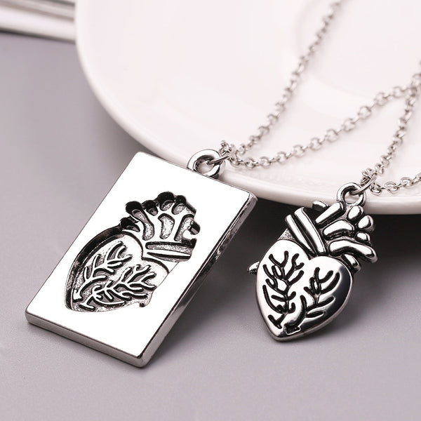 1 Set True Heart Couple Necklaces