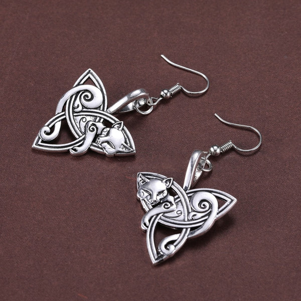 Cool Cat Knot Earrings