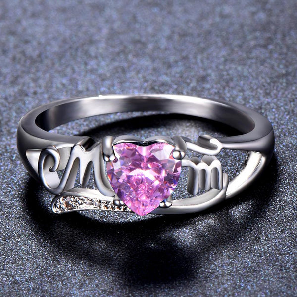 Pink Exquisite Zircon Mom Rings