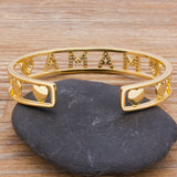 Gold Color Mama Love Cuff Bracelet