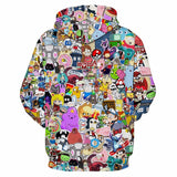 Unisex Anime Hoodies Back