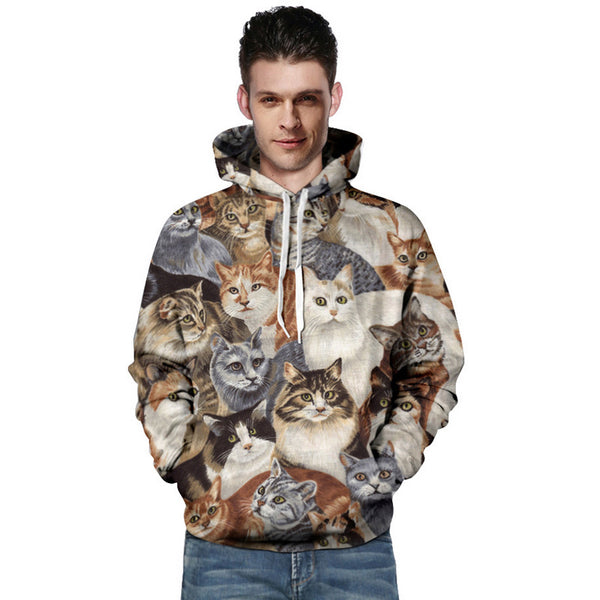 Unisex 3D Print Cats Hoodies
