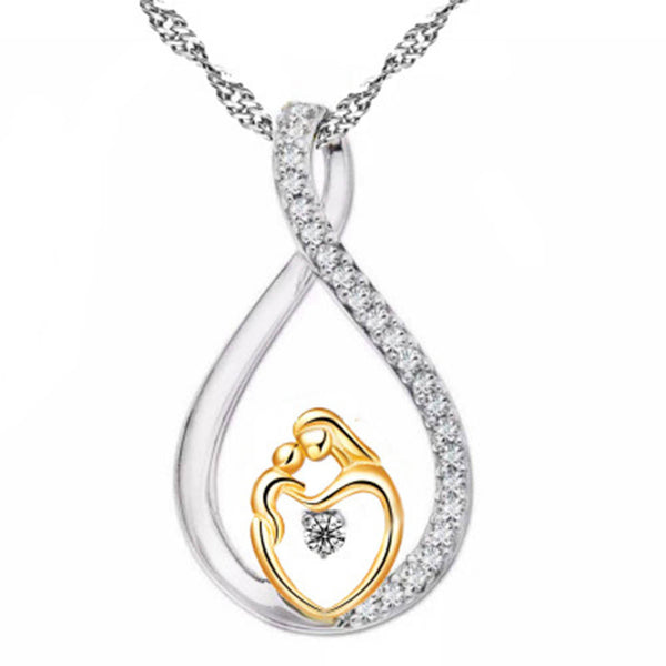 Mother Baby Heart Charm Pendant