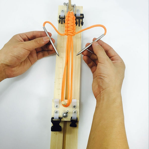 DIY Wood Bracelet Knitting Tool