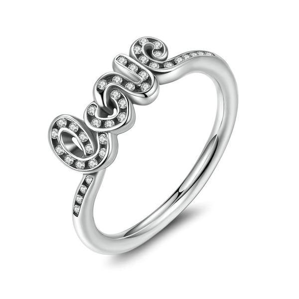 100% 925 Sterling Silver Love Ring