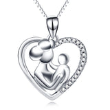 925 Sterling Silver Mom And Child Pendant