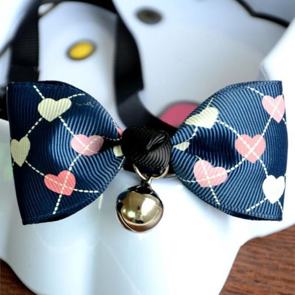 Adjustable Dog Cat Pet Cute Bow Tie With Bell