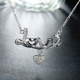 Silver 925 lover heart necklaces