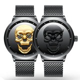 Stainless Steel Skull Sport Watch