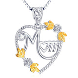 925 Sterling Silver Love Mom Necklaces