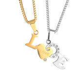 1 Pair Cute Love Necklaces