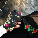 Roses Silicone Phone Case For iPhone 6 6s 6 plus 6s plus 7 7 plus