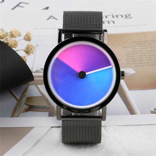 Creative Colorful Vortex Minimalist Spiral Quartz Wristwatch