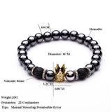 Charm Natural Stone Crown Bracelet