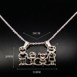 Stainless Steel Family Necklaces
