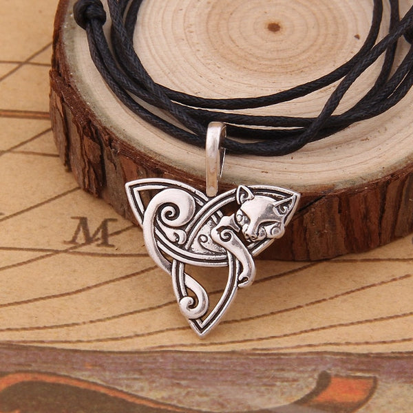 Celtic Knots Cat Pendant and Necklace