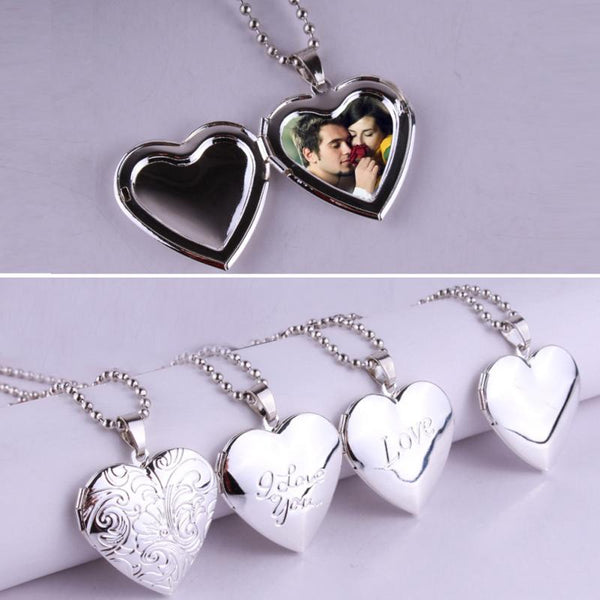 Valentine Lover Gift Photo Frames Locket Necklace