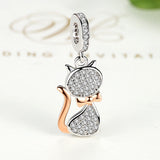 925 Sterling Silver Lovely Cat Charm Pendant