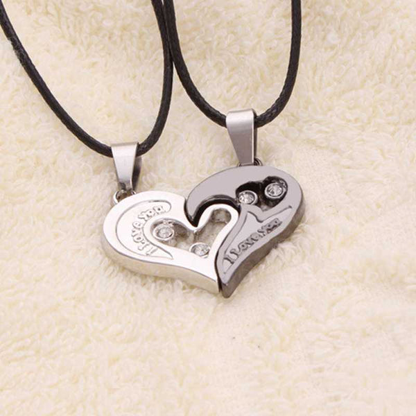 Two hearts in one necklace with rope chain gear delight two hearts in one necklace with rope chain aloadofball Image collections