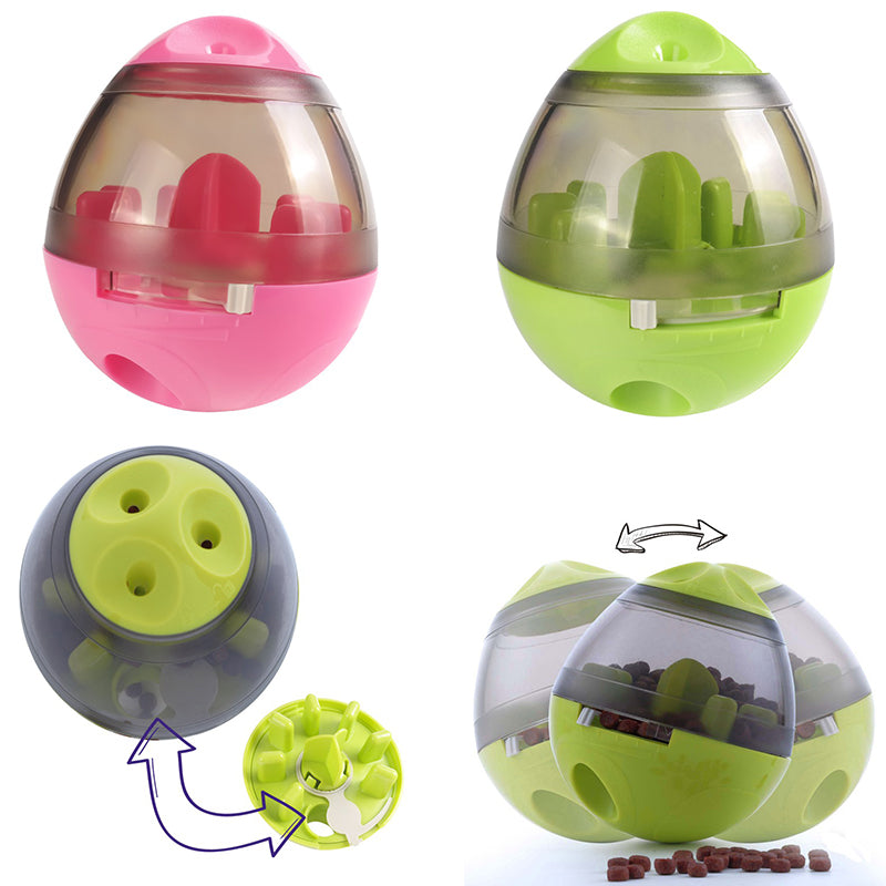 Pet Food Ball - Fun and Interactive Treat Dispensing Toys for Dogs & Cats Increases IQ and Mental Stimulation Best Alternative