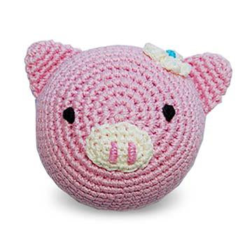 Pink Piggie Crochet Ball