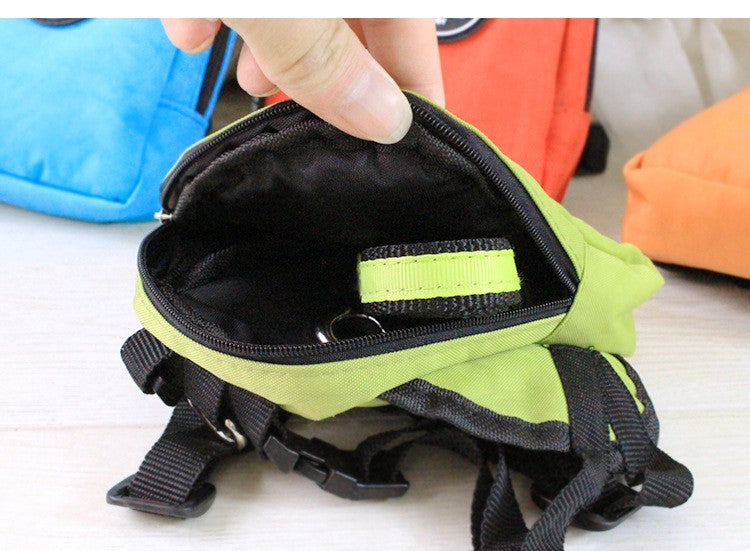 Durable Nylon Backpack with Leash