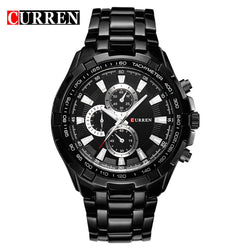 Business Casual  Luxury Full Stainless Steel Watch Waterproof