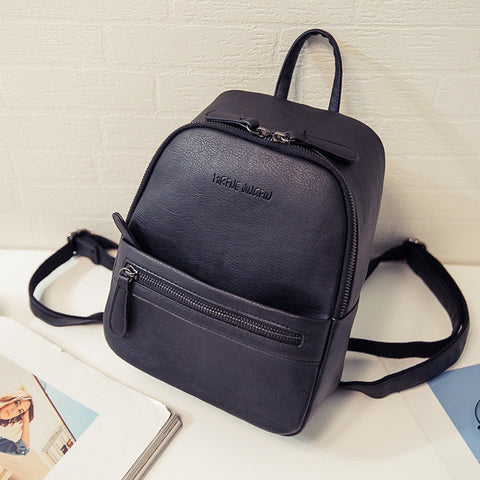 Leather Backpack l Candy Color