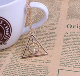 Harry Potter and the Deathly Hallows triangle pendant necklace