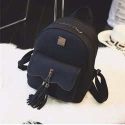 Vintage Tassel Leather Backpack