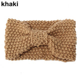 Crochet Bow Knot Turban Knitted Winter Ear Warmer Headband