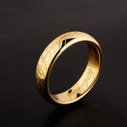 Midi Ring Tungsten One Ring of Power Gold the Lord of Ring Lovers Unisex
