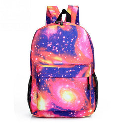 Stars Universe Space Printing Backpack School Book