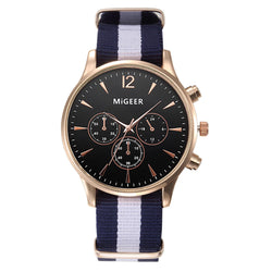 Casual Fashion Black & White Strap Watch