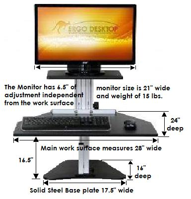 Phenomenal Ergo Desktop Kangaroo Single Monitor Standing Desk Ed Ka Home Interior And Landscaping Analalmasignezvosmurscom
