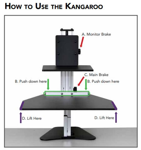 Stupendous Ergo Desktop Kangaroo Single Monitor Standing Desk Ed Ka Home Interior And Landscaping Analalmasignezvosmurscom