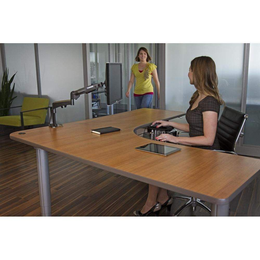 new product b4ce5 081ce Standing Desk L-Shape Corner Electric Height Adjustable - Populas