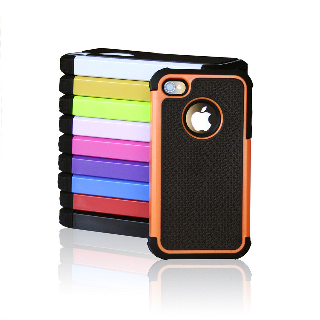 iPhone 5/5S Trade Tough 2 Colour Defender Rubber Case Cover