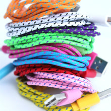 1 Metre Braided Fabric 8Pin USB Charger Cable For Apple iPhone 5/5S/6 iOS 9