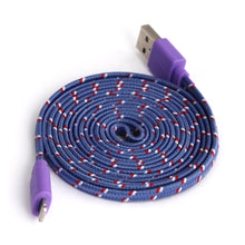 2 Metre Braided Fabric 8Pin USB Flat Charger Cable For Apple iPhone 5/5S/6 iOS 9